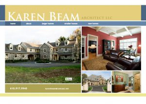 Home Page for Karen Beam Architect site design.