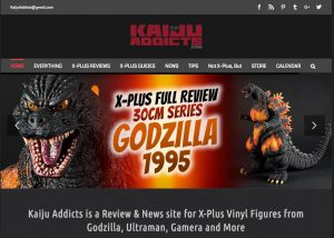 Sample Website Design: Kaiju Addicts.