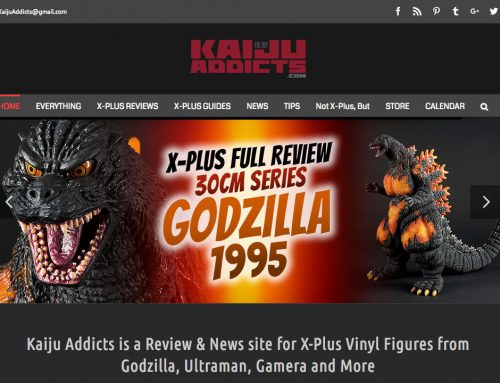 Kaiju Addicts Website Design Portfolio Sample
